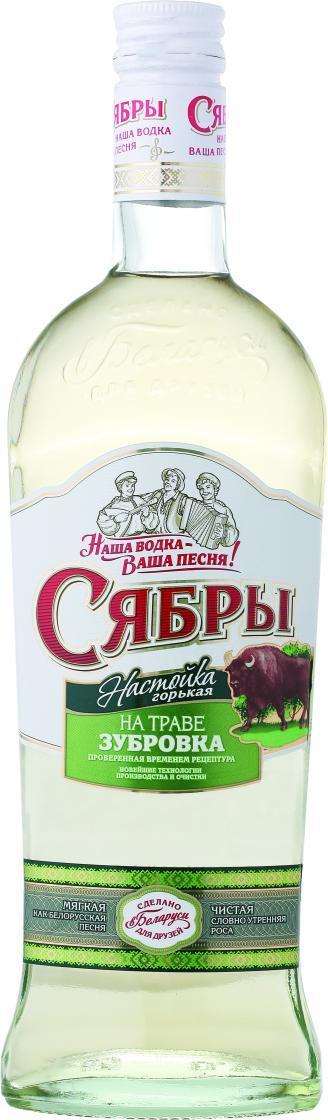 Настойка Сябры горькая на траве Зубровка 40%