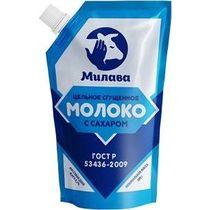 Сгущенное молоко Милава цельное с сахаром 8,5 %, Дой-пак 300 г