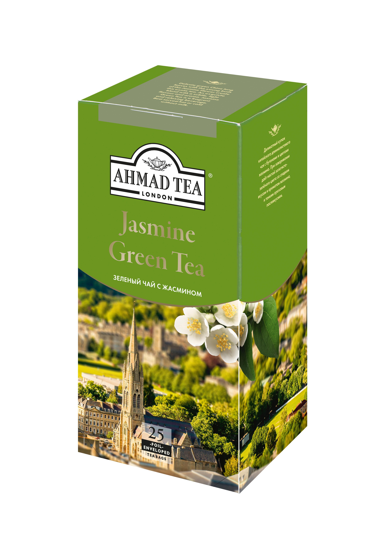 Чай зеленый Ahmad Tea С жасмином 25 пакетов