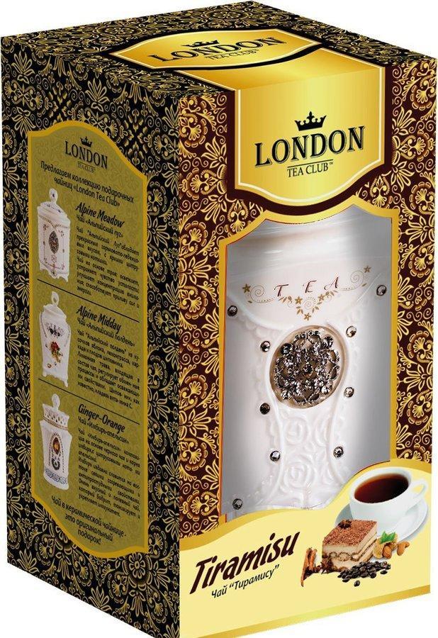 Чай черный London tea club Tiramisu Керамическая чайница