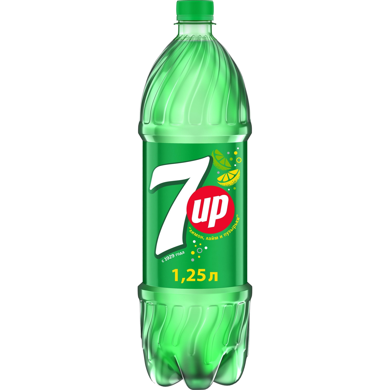 Напиток газированный 7up со вкусом лимона и лайма  1,25 л.
