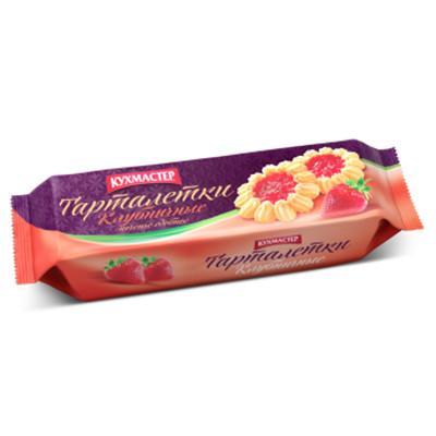 Печенье Кухмастер Клубничные тарталетки сдобное