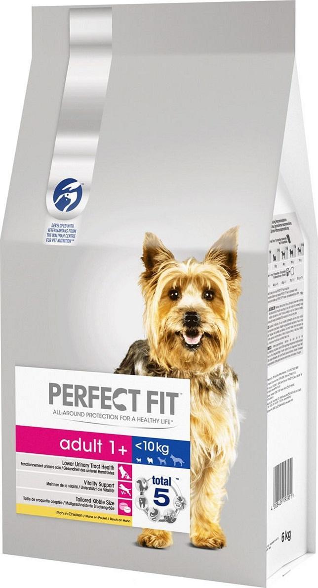 Корм Perfect Fit сухой для собак  Adult для мелких и миниатюрных пород с курицей 6кг