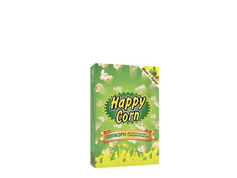 Попкорн Happy Corn Яблоко и корица Для приготовления в СВЧ