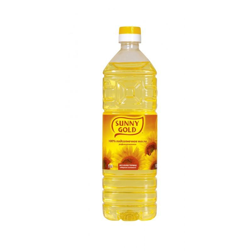 Масло Sunny Gold подсолнечное рафинированное, Россия