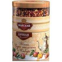 Чай черный Майский Дачная коллекция Яблоко, цедра апельсина, имбирь