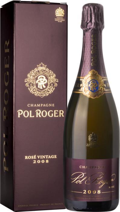 Шампанское Поль Роже Брют Розе 2008 / Pol Roger Brut Rose 2008,  Пино Нуар, Шардоне,  Розовое Брют, Франция