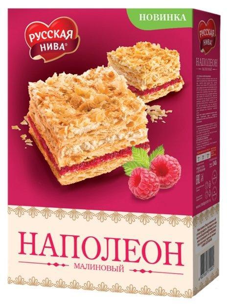 Торт Русская Нева Наполеон Малиновый