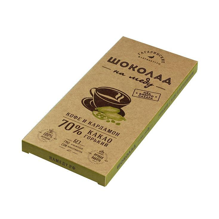 Шоколад Шоколад На Меду Горький 70% какао С Кофе и Кардамоном