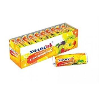 Конфеты Холодок Ассорти с витамином С таблетированные