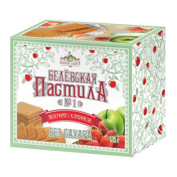 Пастила Белевские Сладости яблочная с клубникой без сахара