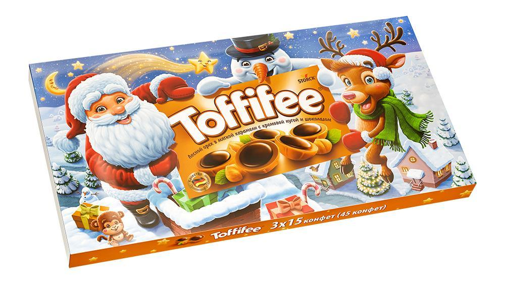 Конфеты Toffifee Санта Клаус Снеговик Олень