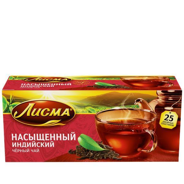 Чай Лисма Насыщенный черный байховый индийский 25 пак 45 гр