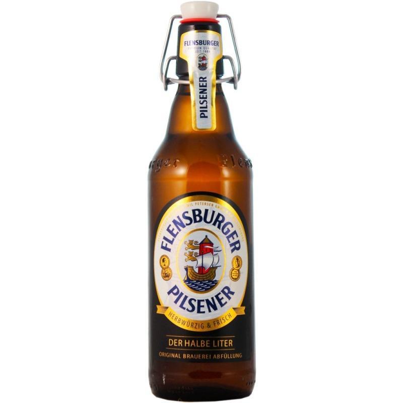 Пиво Flensburger Pilsner светлое фильтрованное 4,8%