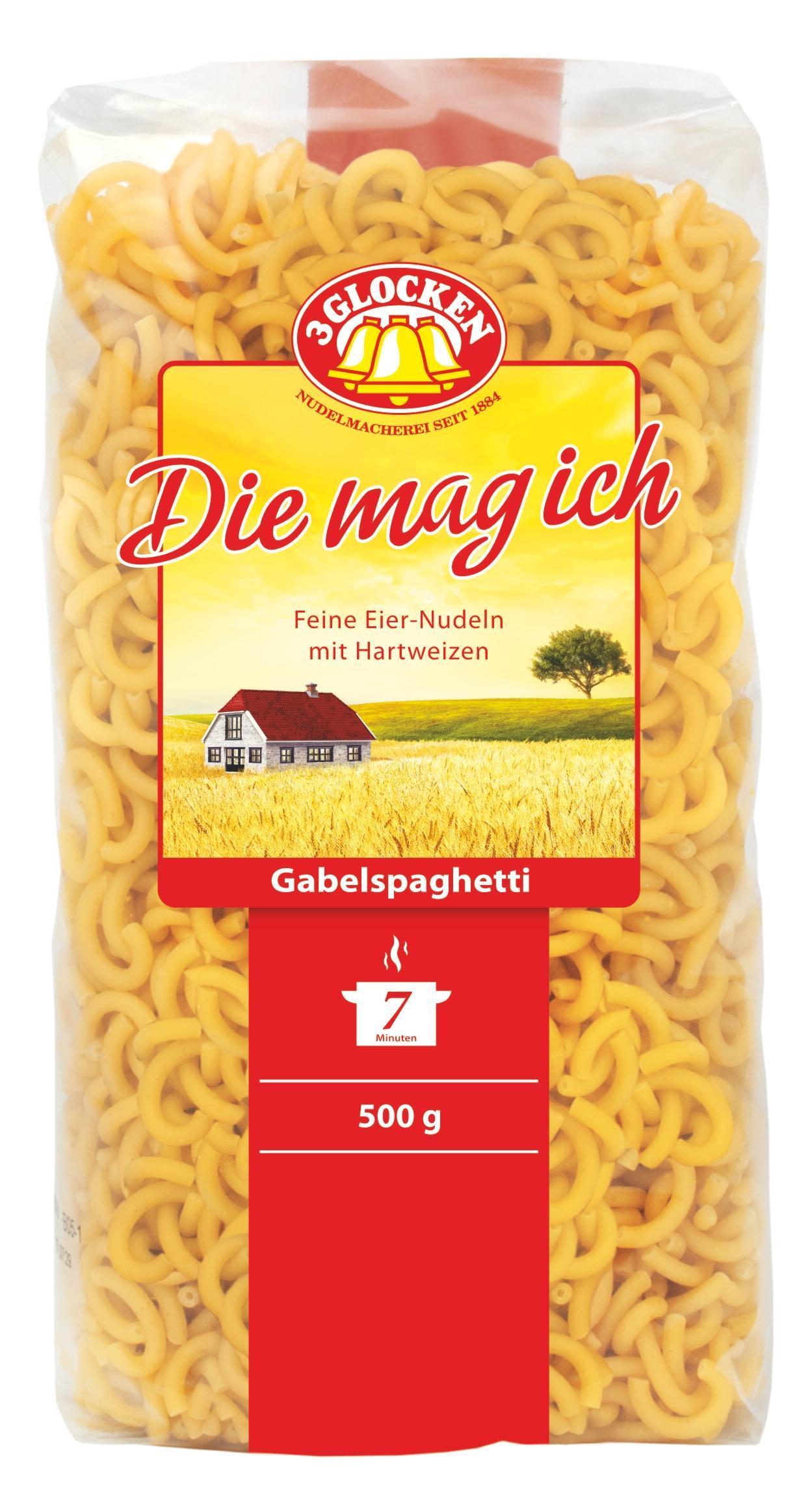 Макаронные изделия 3 Glocken Die mag ich Gabelspaghetti