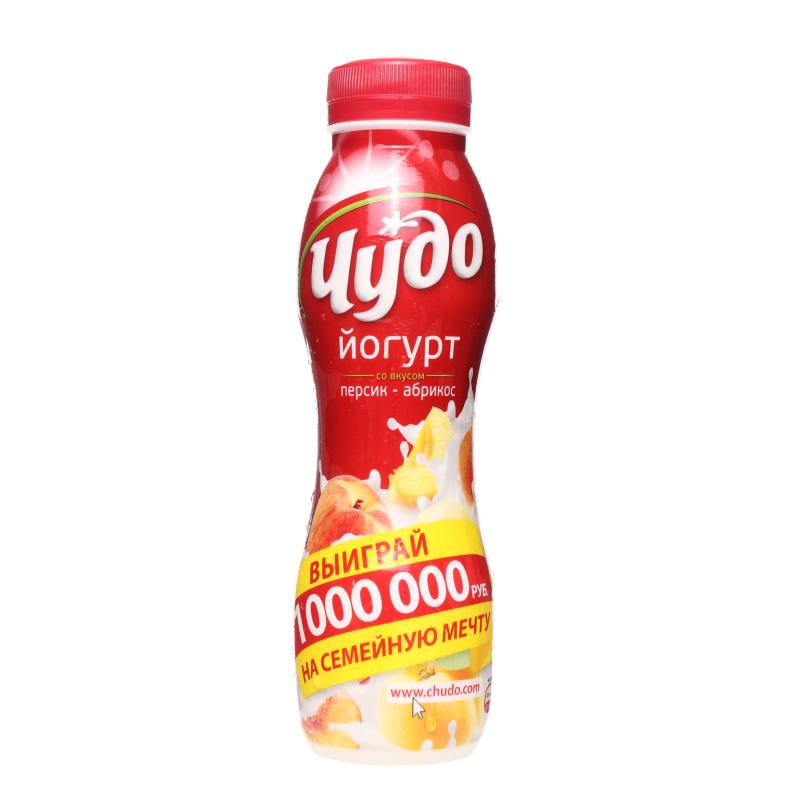 Йогурт питьевой Чудо Персик Абрикос 2,4%