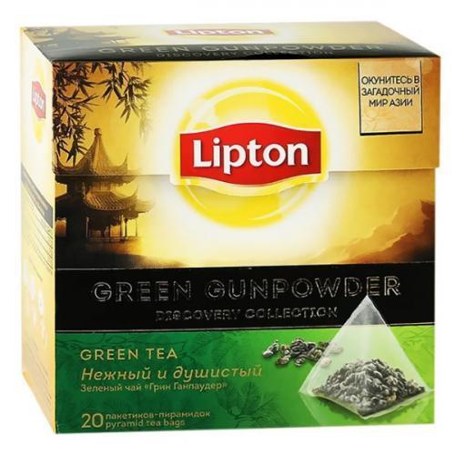 Чай Lipton Green Gunpowder зеленый в пирамидках