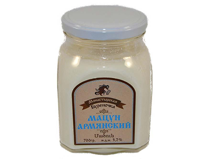 Кисломолочный напиток Монастырская бурёночка Мацун Армянский 3,2%