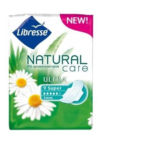 Прокладки Libresse Natural Care Ultra Super 9 шт