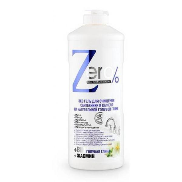 Эко-гель Zero для очищения сантехники и кафеля на натур голубой глине