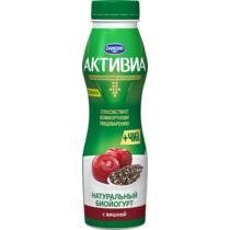 Йогурт питьевой Активиа Вишня и семена Чиа 2,1%