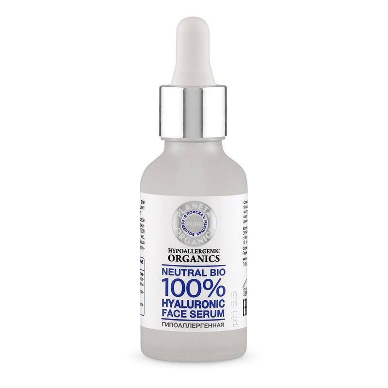 Сыворотка для лица гиалуроновая Planeta Organica Pure, 30 мл., пластиковая бутылка