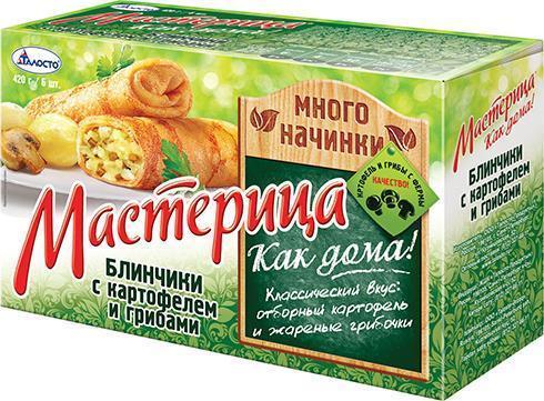 Блинчики Талосто Мастерица с картофелем и грибами