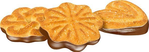 Печенье Глобус Чайное с глазурью