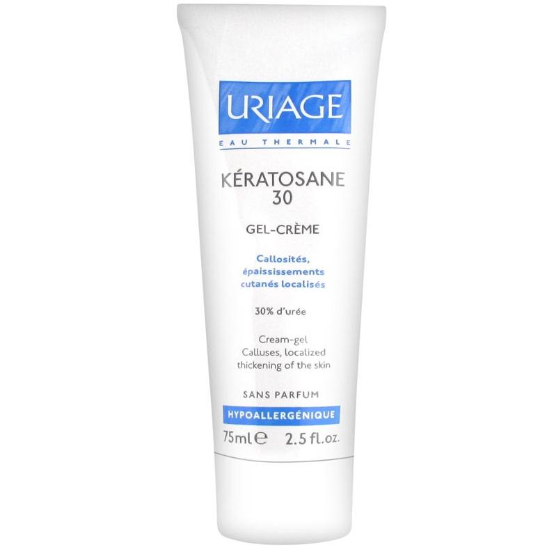 Гель-крем Uriage для мозолистых образований и локализованных утолщений Keratosane-30