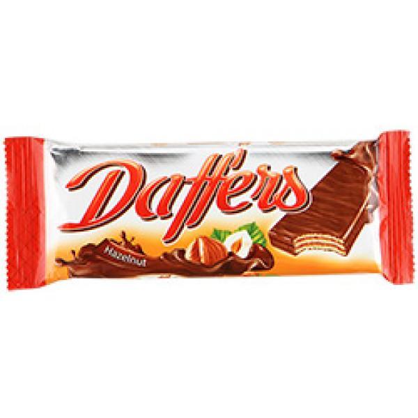 Вафли Daffers с кремовой начинкой с лесными орехами в молочной какао глазури