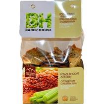 Хлебцы Baker House Итальянские с сельдереем, семенами льна и оливковым маслом
