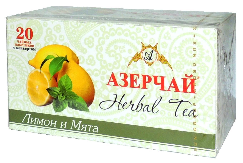 Чай Азерчай лимон и мята травяной