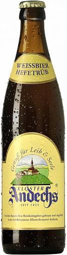 Пиво Andechs Weissbier Hell светлое 5,5% 0,5 л.