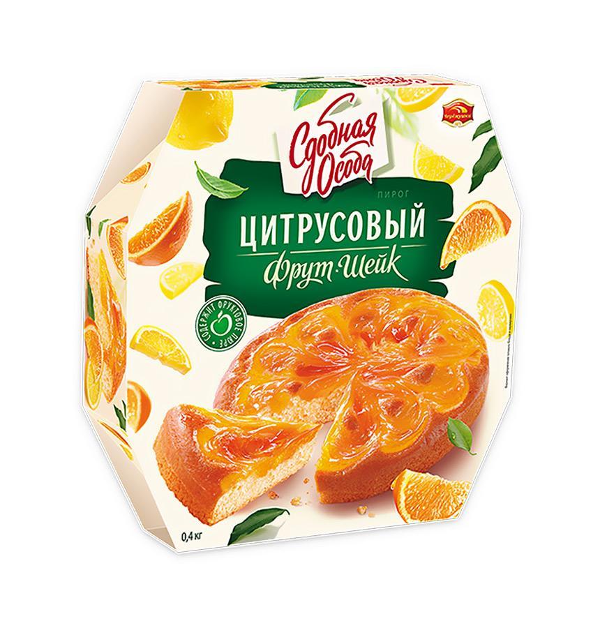 Пирог СДОБНАЯ ОСОБА Цитрусовый Фрут шейк 400г