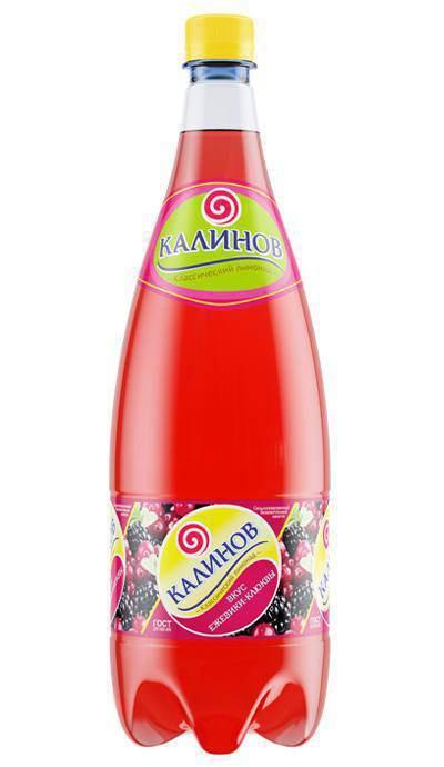 Лимонад Калинов Вкус ежевики-клюквы сильногазированный