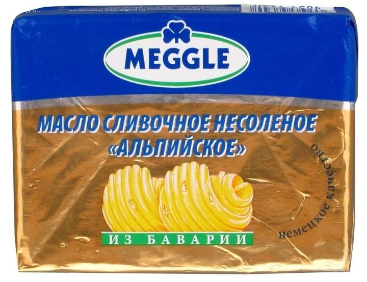 Сливочное масло Meggle Альпийское 82%