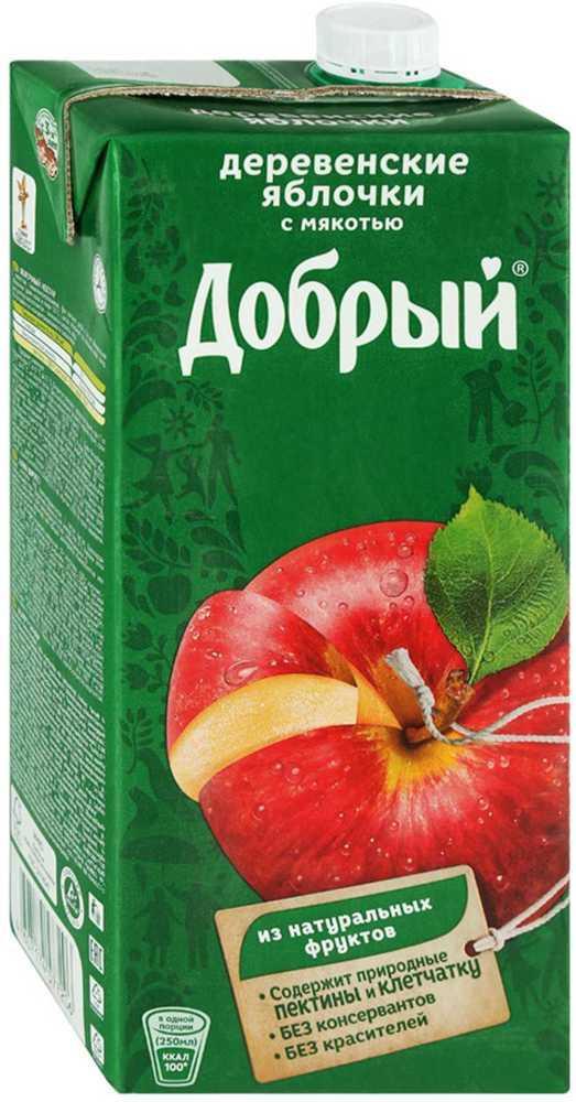 Нектар Добрый Деревенские яблочки с мякотью