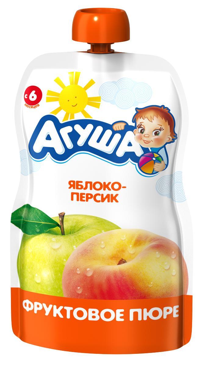Пюре Агуша Яруктовое яблоко-персик