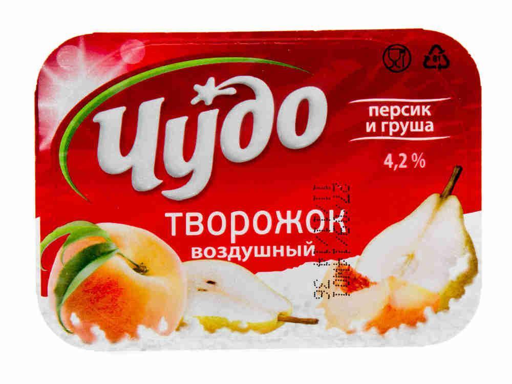 Десерт творожный Чудо Персик-груша 42%