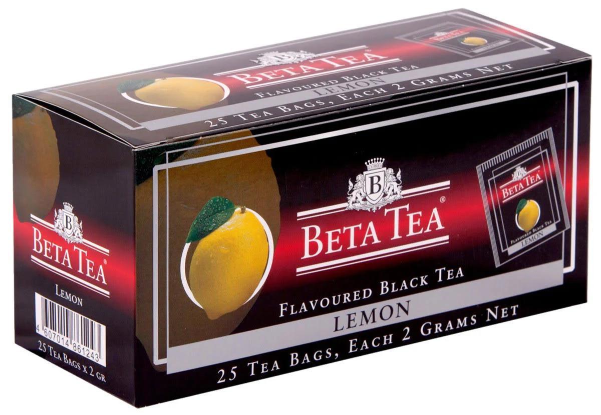 Чай черный Beta tea Лимон 25 пакетов