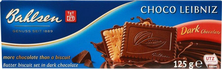 Печенье Bahlsen Покрытое горьким шоколадом 125 гр