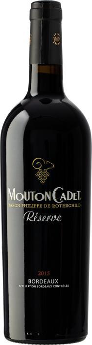 Вино Мутон Каде Резерв Бордо Руж / Mouton Cadet Reserve Bordeaux Rouge,  Мерло, Каберне Совиньон,  Красное Сухое, Франция