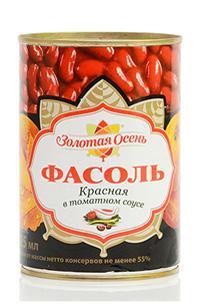 Фасоль Золотая Осень красная в томатном соусе
