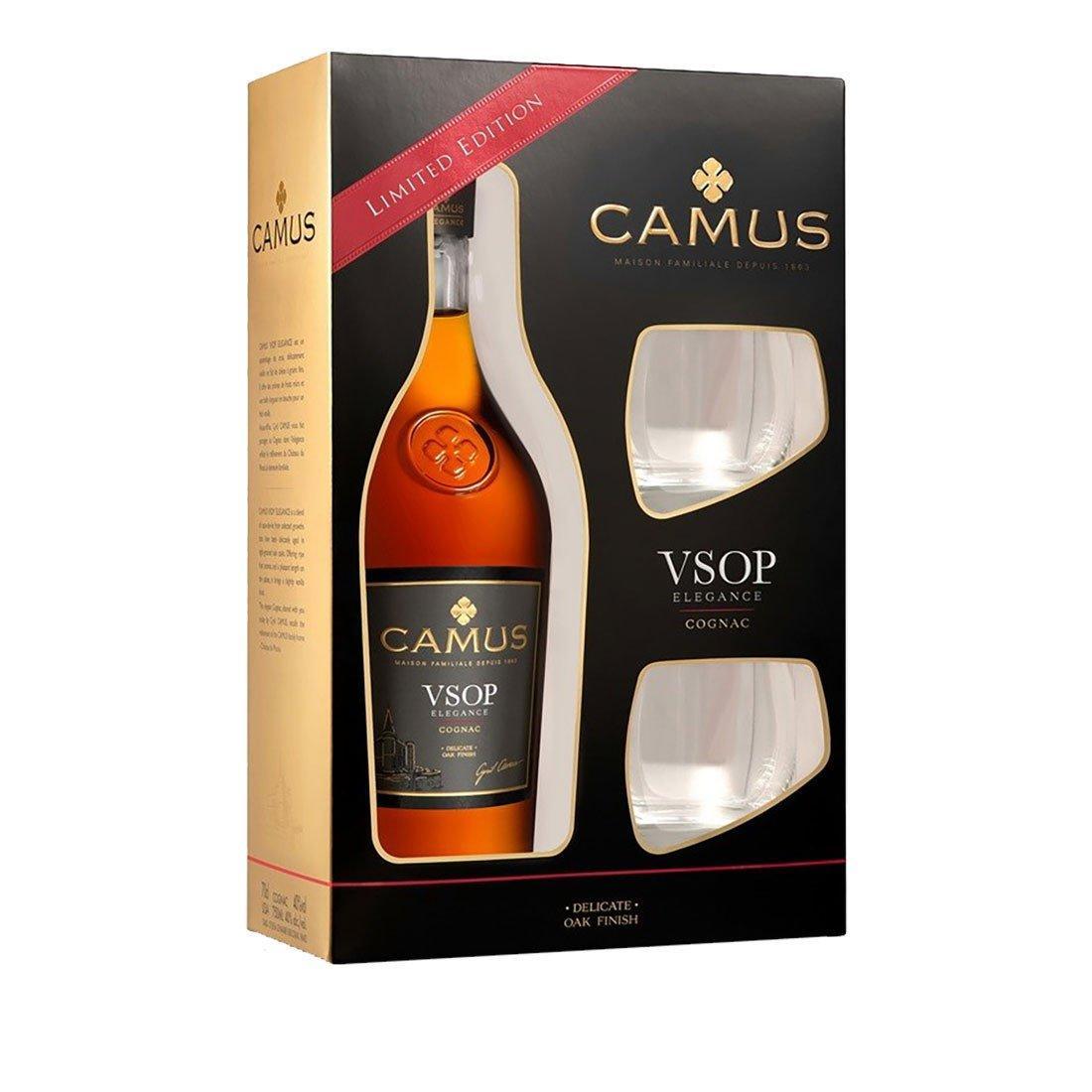 Коньяк Camus VSOP Элеганс 40% + 2 стакана