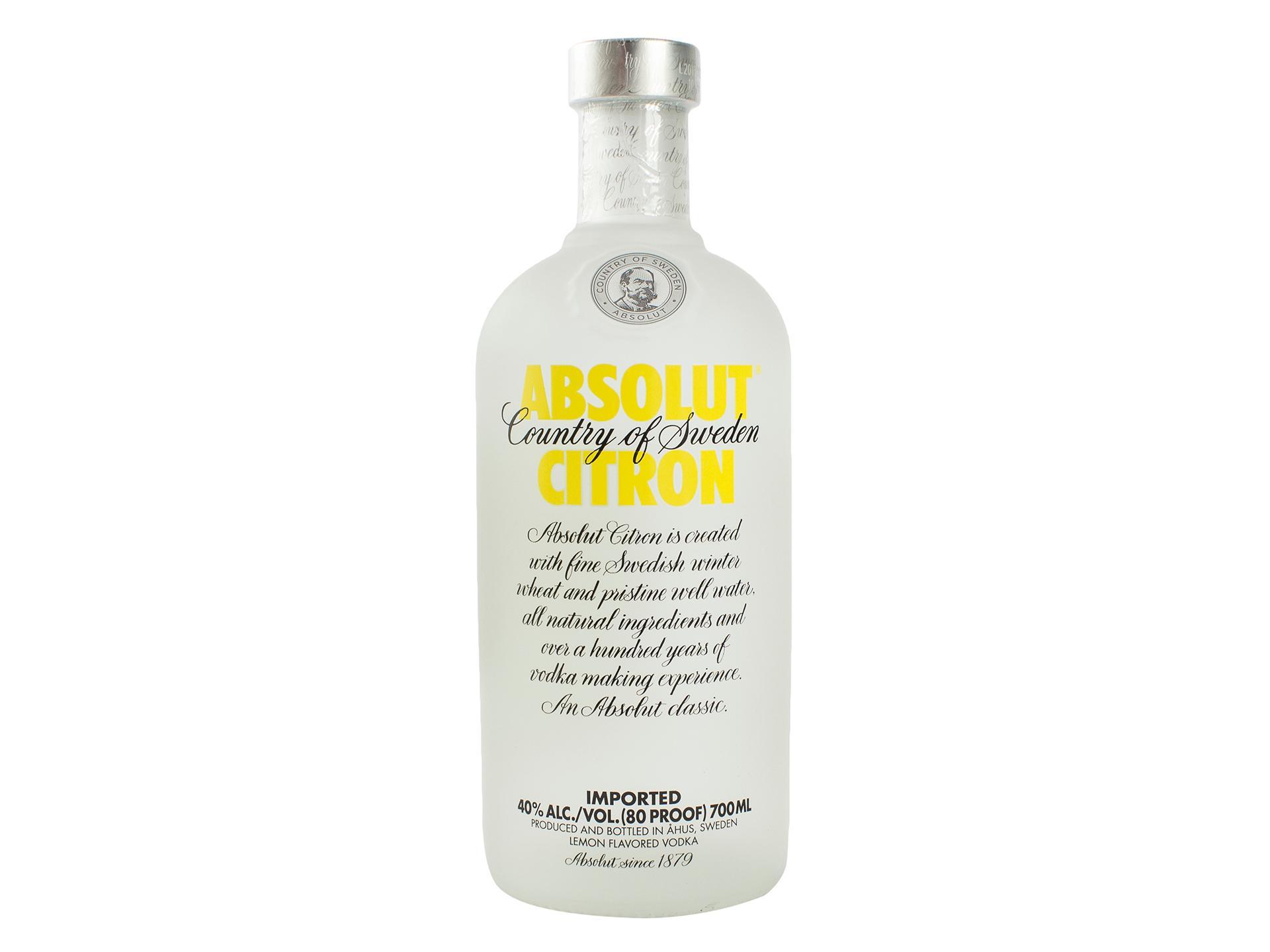 Настойка Absolut со вкусом лимона горьая 40%