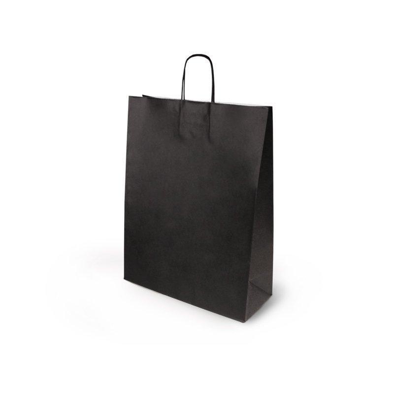 Черный пакет с круч. руч., белый внутри, 350*135*450 мм