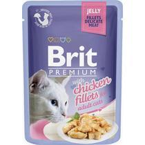 Корм для кошек Brit Premium кусочки из куриного филе в желе