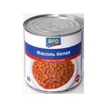 Фасоль Aro белая в томатном соусе