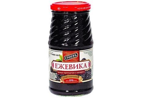 Ежевика Стоевъ протертая с сахаром