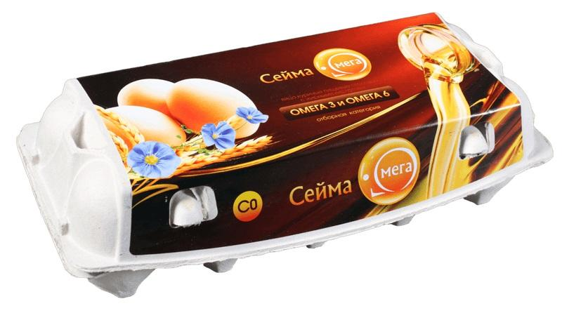 Яйцо куриное Сейма-Омега С0 10шт.